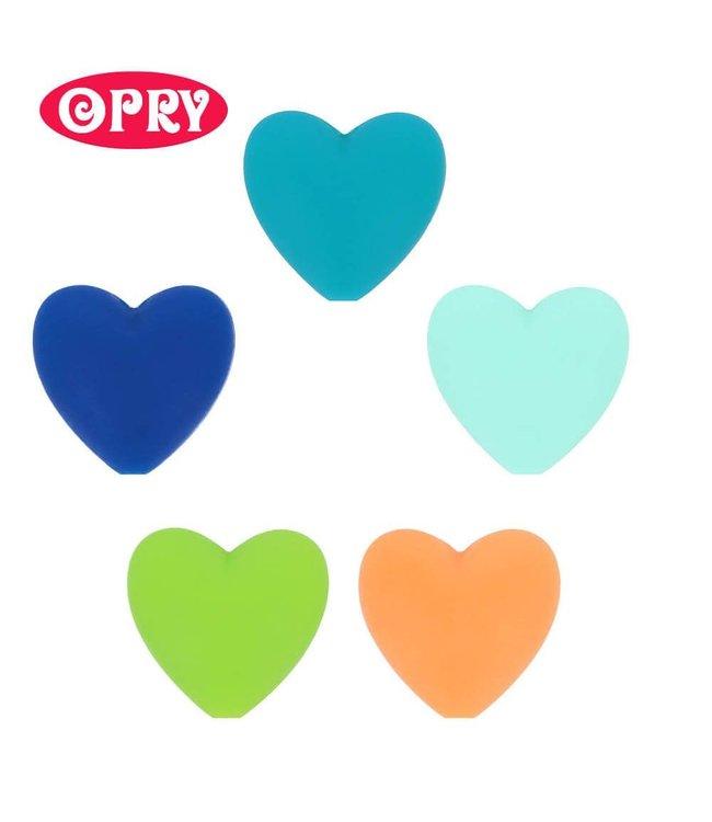 Scheepjes Lot de 5 coeurs en silicone de couleurs différentes SET 3