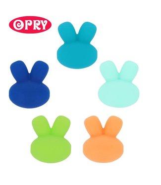 Scheepjes Lot de 5 lapins en silicone de couleurs différentes SET 3