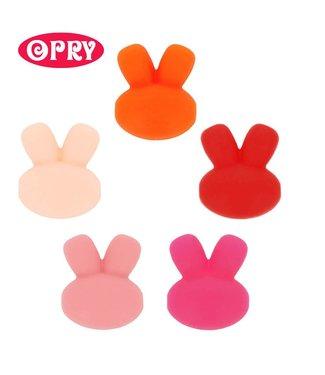 Scheepjes Set van 5 verschillende kleuren silicone konijntjes SET 2