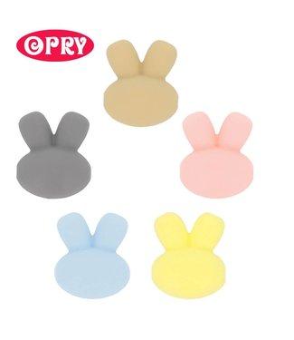 Scheepjes Set van 5 verschillende kleuren silicone kralen vorm konijntjes SET 1