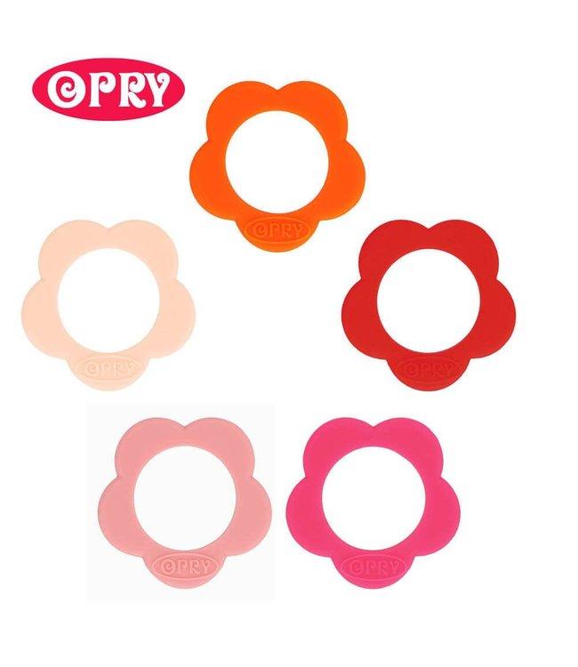 Scheepjes Set von 5 verschiedenfarbigen Silikonbeißringen formen Blume - SET 2
