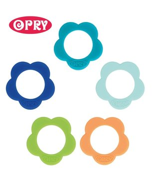 Scheepjes Set of 5 different colored silicone teethers shape flower - SET 3