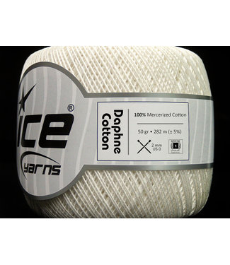Haakpret Ice Yarns  Daphne Cotton 50 g cremefarben - 27