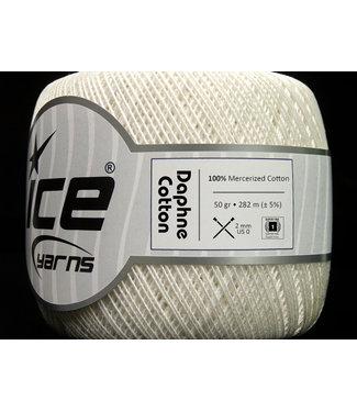 Haakpret Ice Yarns  Daphne Cotton 50g blanc cassé - 27