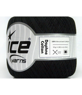 Haakpret Ice Yarns  Daphne Cotton 50 g schwarz - 26