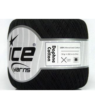 Haakpret Ice Yarns Daphne Cotton 50g zwart - 26