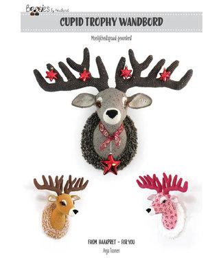 Haakpret Cupid trophy wall decoration - english crochet description A5