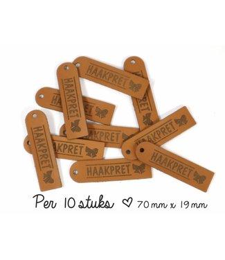 Haakpret 10 x Product-labels  Haakpret