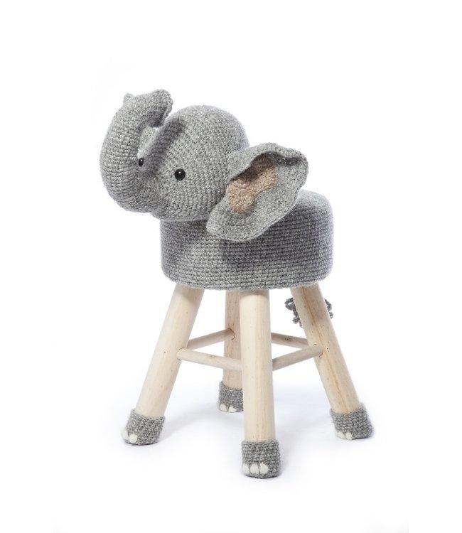 Haakpret Package Elephant - alternative yarn without wool
