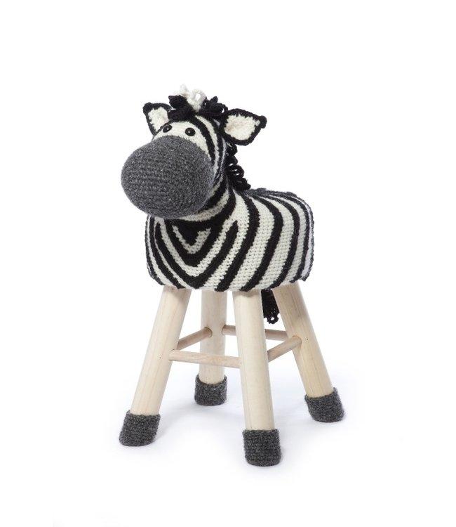 Haakpret Pakket Zebra - alternatief garen zonder wol