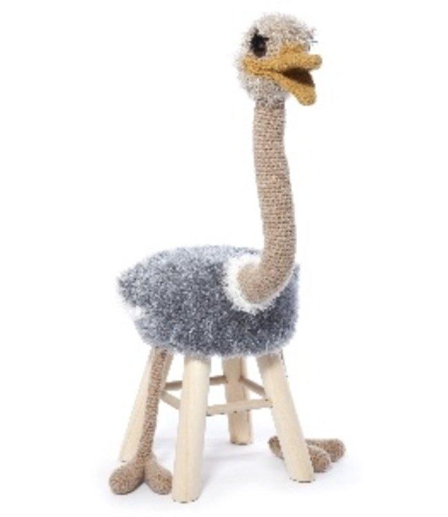Haakpret Pakket Struisvogel - alternatief garen 50%  wol