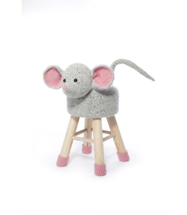 Haakpret Package Mouse - alternative yarn 50%  wool