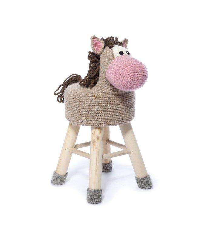 Haakpret Pakket Paard - alternatief garen 50%  wol