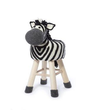 Haakpret Pakket Zebra - alternatief garen 50%  wol