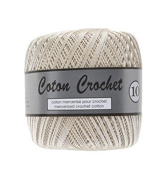 Lammy Yarns Coton Crochet no 10 - 50g - 016 - ecru