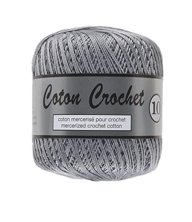 Lammy Yarns Coton Crochet no 10 - 50g - 038 grijs