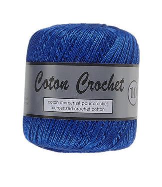 Lammy Yarns Coton Crochet no 10 - 50g - 039 kobalt blauw