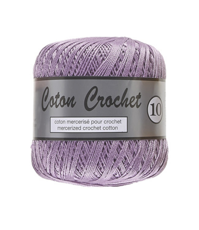 Lammy Yarns Coton Crochet no 10 - 50g - 082 lila