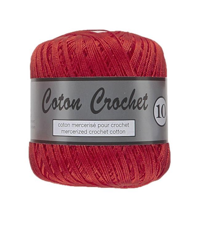 Lammy Yarns Coton Crochet no 10 - 50g - 043 rood