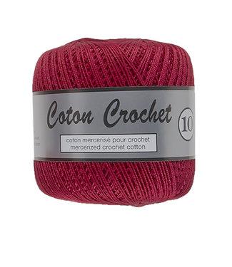 Lammy Yarns Coton Crochet no 10 - 50g - 042 donkerrood