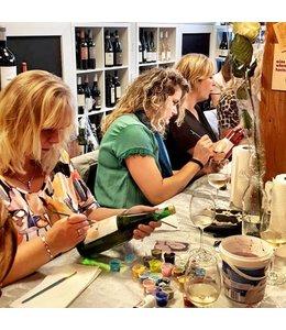 Dikke dames schilderen incl High Wine
