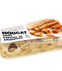 Nougat zoute karamel en amandelen