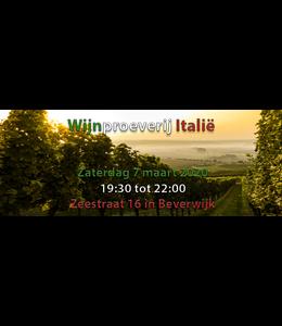 Wijnproeverij Italie zaterdag 7 maart 2020