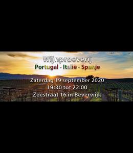 Wijnproeverij Portugal italie en spanje zaterdag 19 september 2020