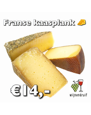 Franse kaasplank zonder wijn