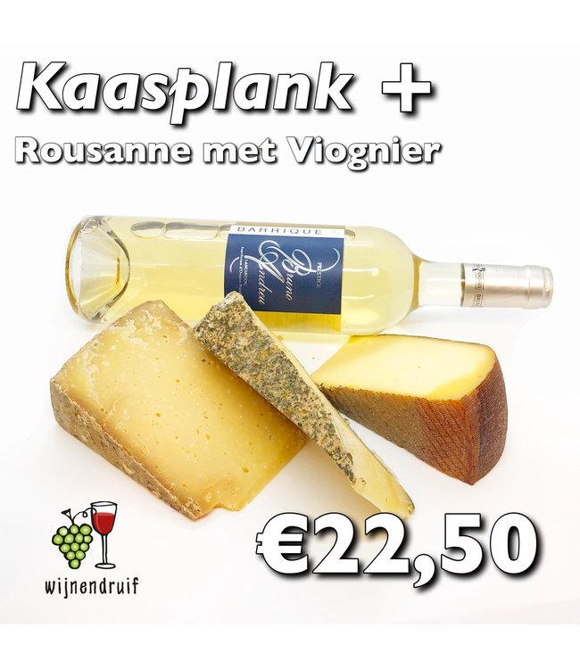 Franse kaasplank met wijn
