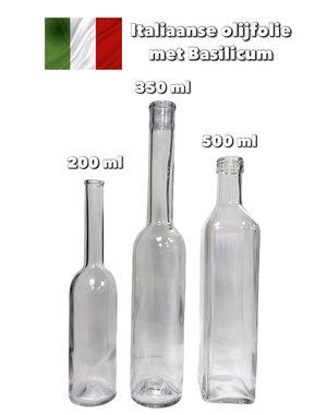 Italiaanse olijfolie met basilicum