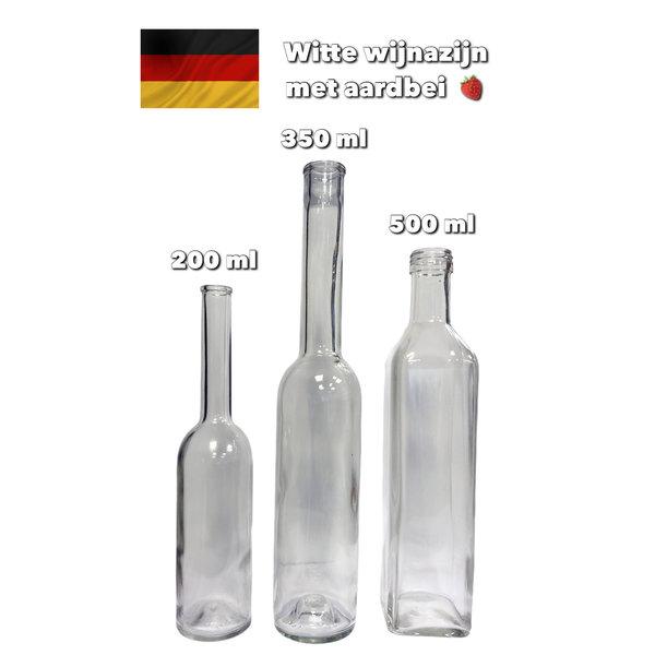 Witte wijnazijn met aardbei