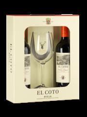 El Coto Crianza (2 flessen met glas in geschenkverpakking)