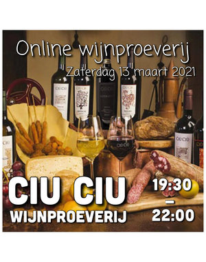 Online wijnproeverij CIU CIU