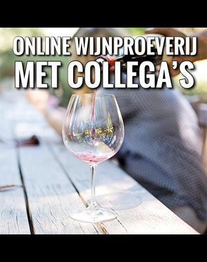 Online wijnproeverij met collega's