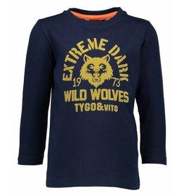 TYGO & Vito TYGO & Vito Longsleeve Wild Wolves Navy