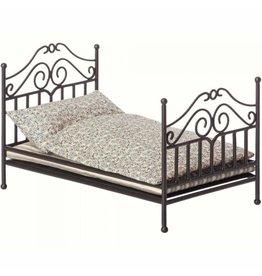 Maileg Maileg - Metalen vintage bed micro - Anthracite