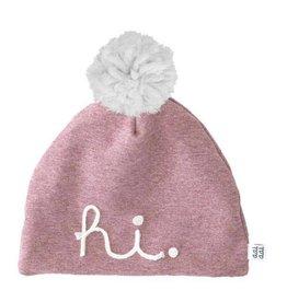 "Aai Aai Aai Aai Winter Beanie "" HI "" Pink Glitter 1-3 jr"