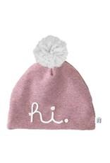 "Aai Aai Aai Aai Winter Beanie "" HI "" Pink Glitter 3-6 jr"