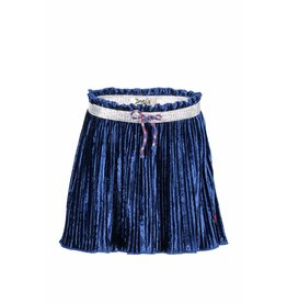 Moodstreet Darlin Moodstreet Darlin Skirt Velours Plisse Blue