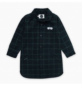 Sproet & Sprout Sproet & Sprout Shirt Dress Check Black & Forrest Green