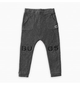 Sproet & Sprout Sproet & Sprout Sweat Pants Bugs at Knees Dark Grey Melee mt 3-4jr