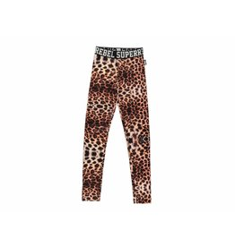 Super Rebel Super Rebel girls Dry-fit legging with Leopard Print