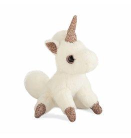 Doudou et compagnie Doudou Sleutelhanger Mini unicorn roze