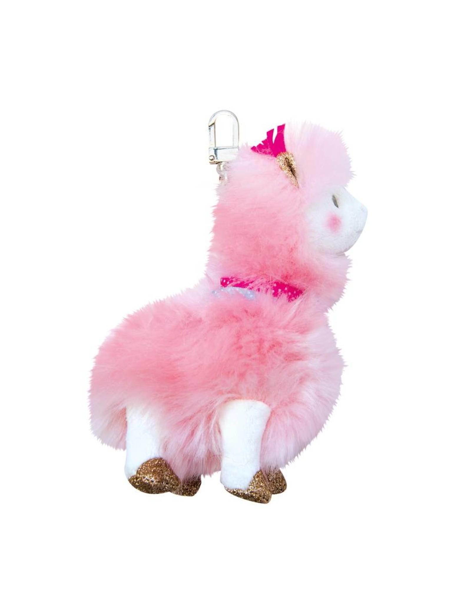 Doudou et compagnie Doudou Sleutelhanger Lama roze