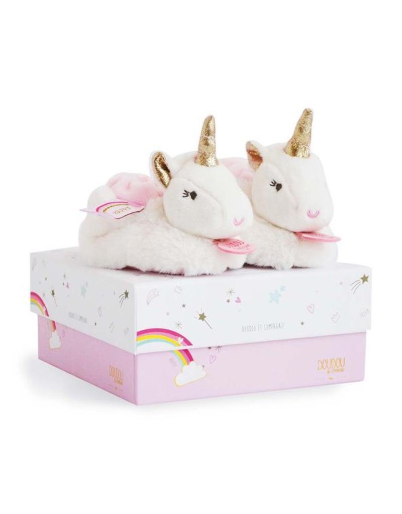 """Doudou et compagnie Doudou Unicorn Slofjes 0-6 mnd """"Lucie la Licorne"""""""