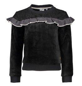 Like Flo Like Flo Velours Sweater, Wool top Black