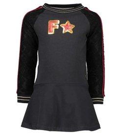 Like Flo Like Flo Raglan Sweat Dress with Flower lace Sleeve