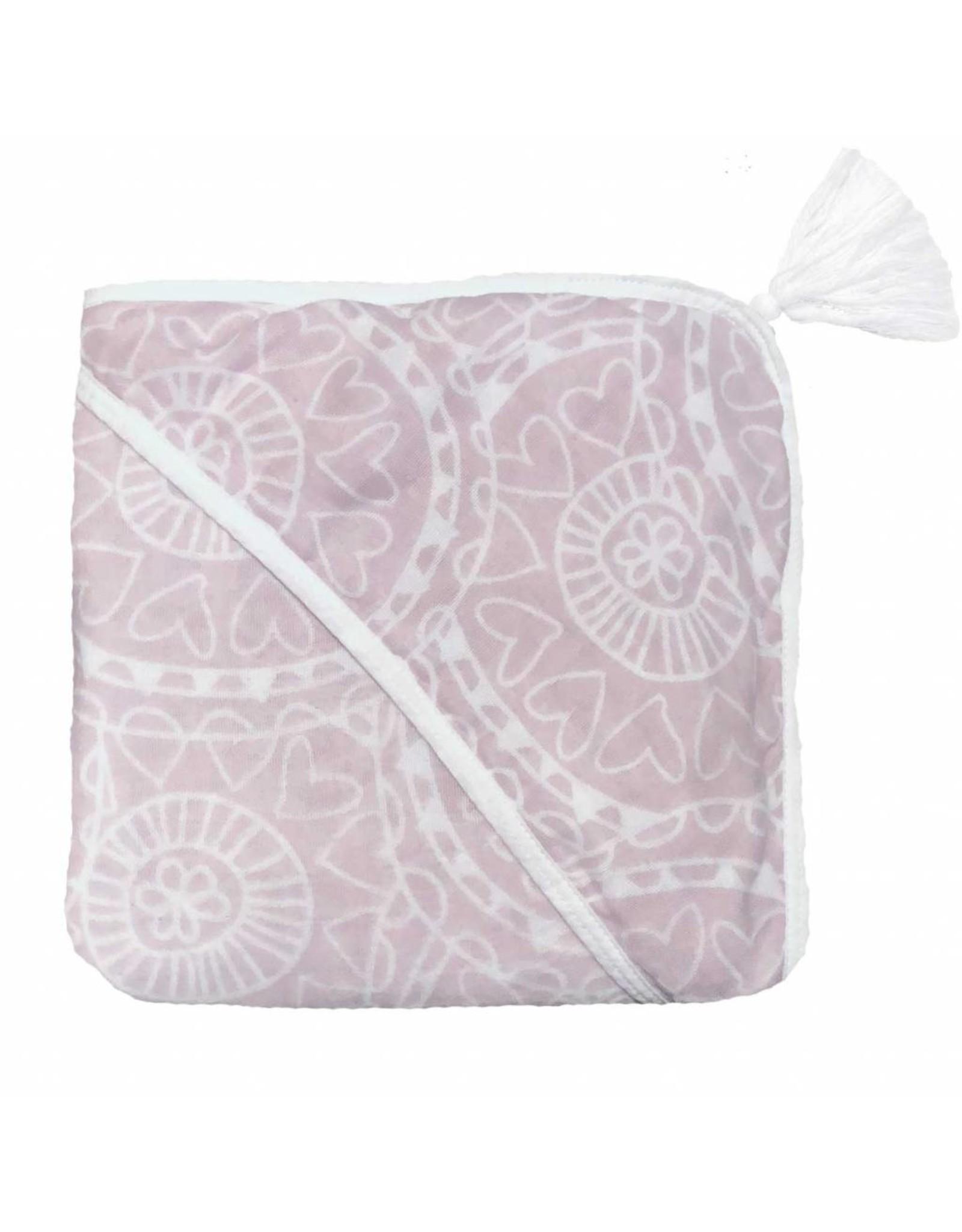 Witlof for Kids Witlof for Kids Badcape / Omslagdoek Little Lof Misty Pink