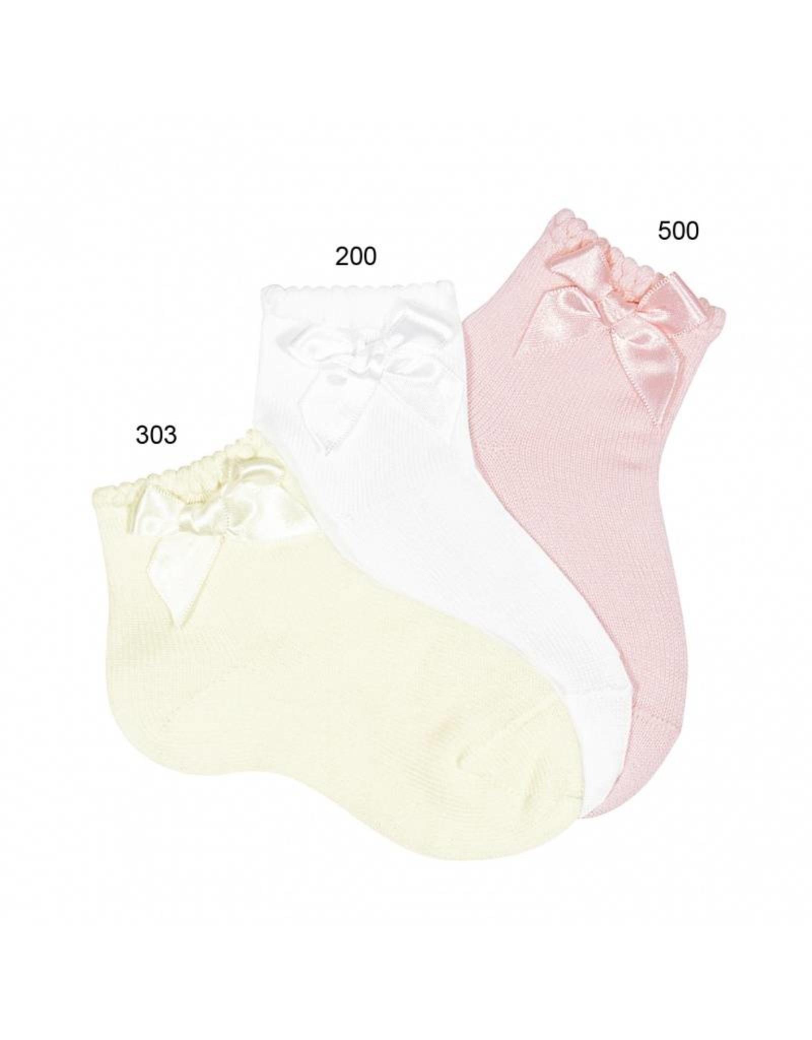 Condor Condor Ceremony Short Socks with matching Bow Rosa
